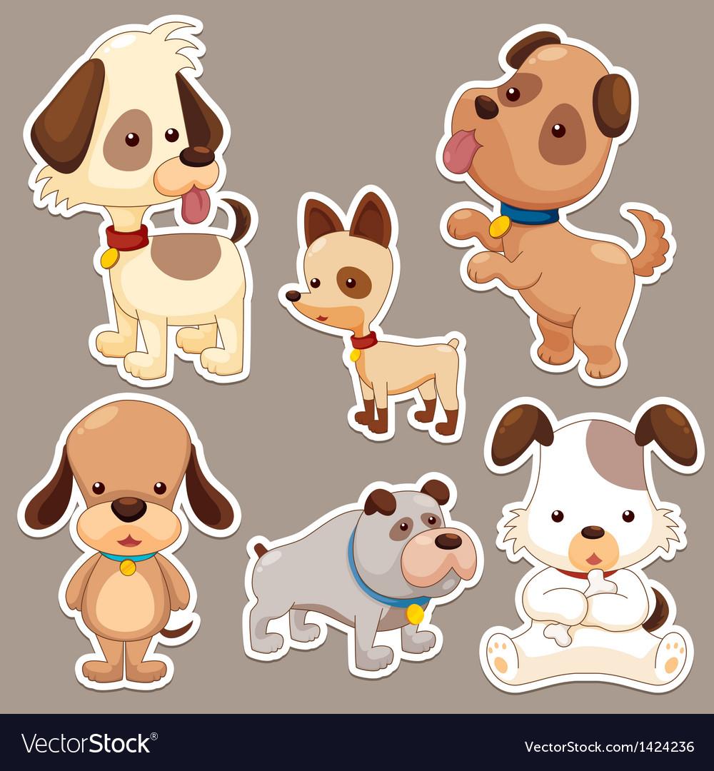 Cute dog cartoon vector | Price: 3 Credit (USD $3)