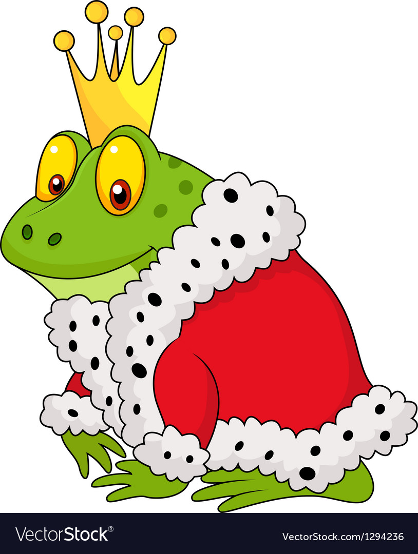 The frog king cartoon vector | Price: 1 Credit (USD $1)