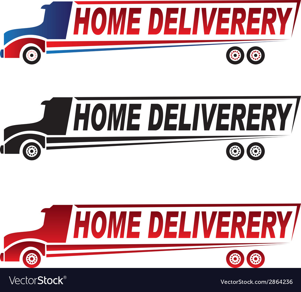 Home delivery truck logo vector | Price: 1 Credit (USD $1)