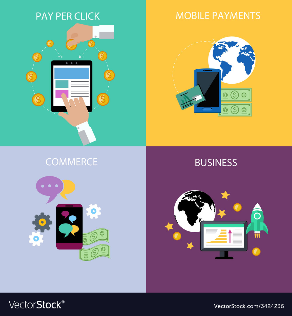 Internet business and payment concept icons vector | Price: 1 Credit (USD $1)