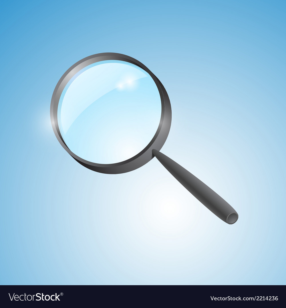 Magnifying lens vector | Price: 1 Credit (USD $1)