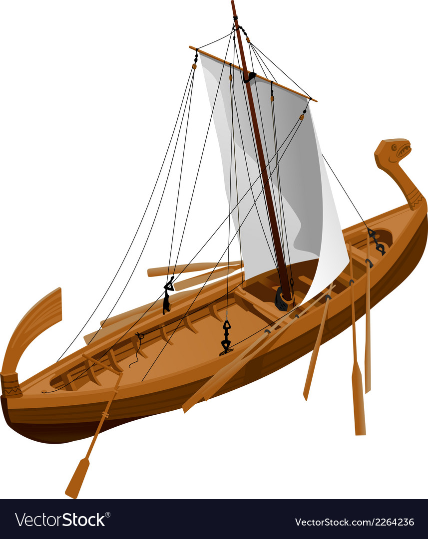 Old slavic ship vector | Price: 1 Credit (USD $1)