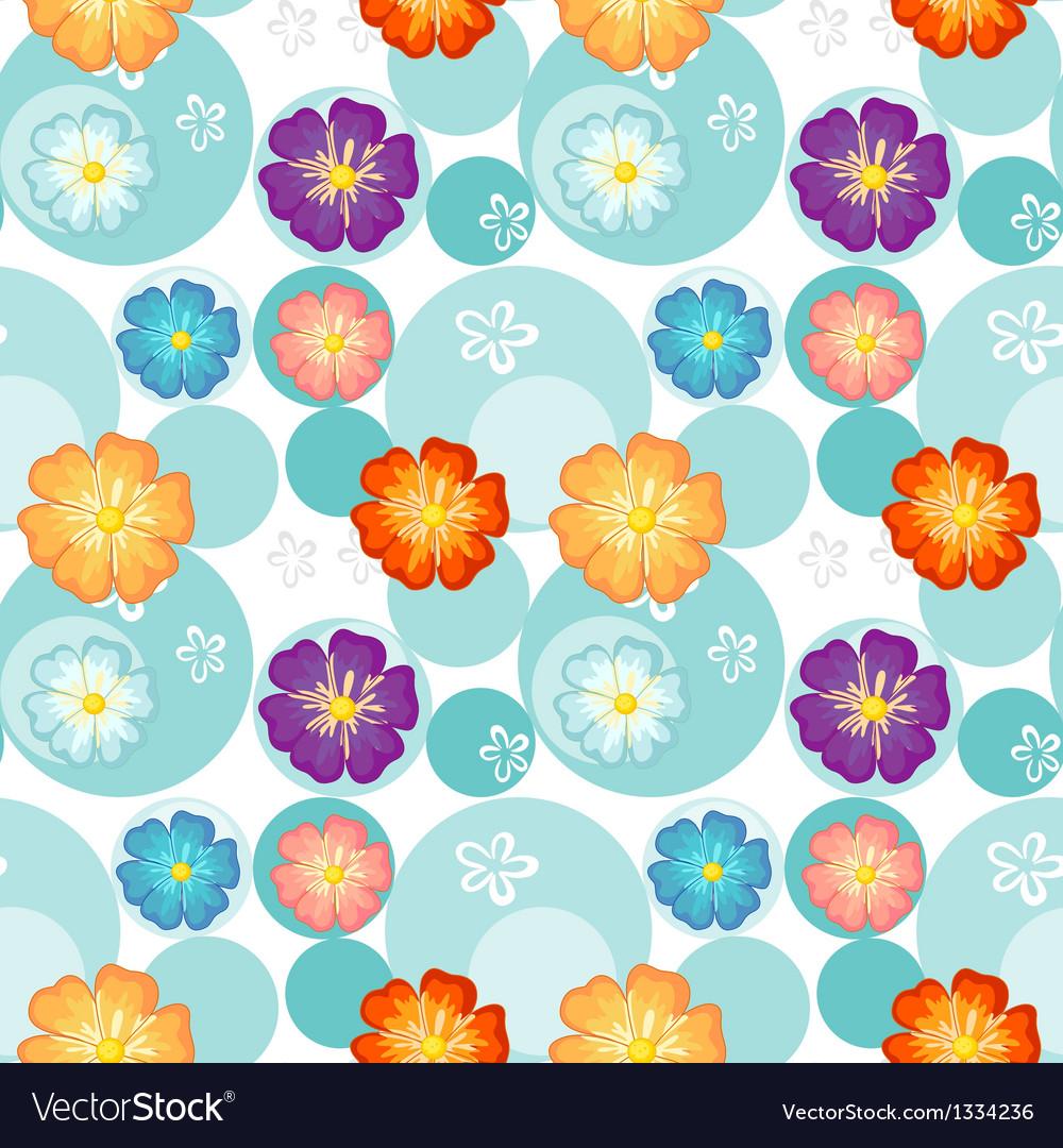 Seamless flowery design vector | Price: 1 Credit (USD $1)