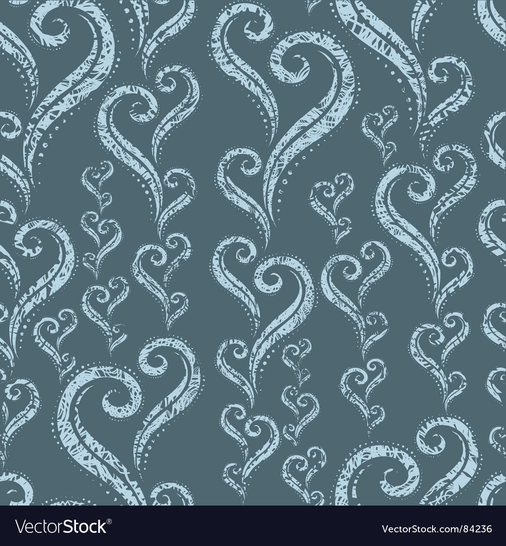 Seamless vintage green grunge floral pattern vector | Price: 1 Credit (USD $1)