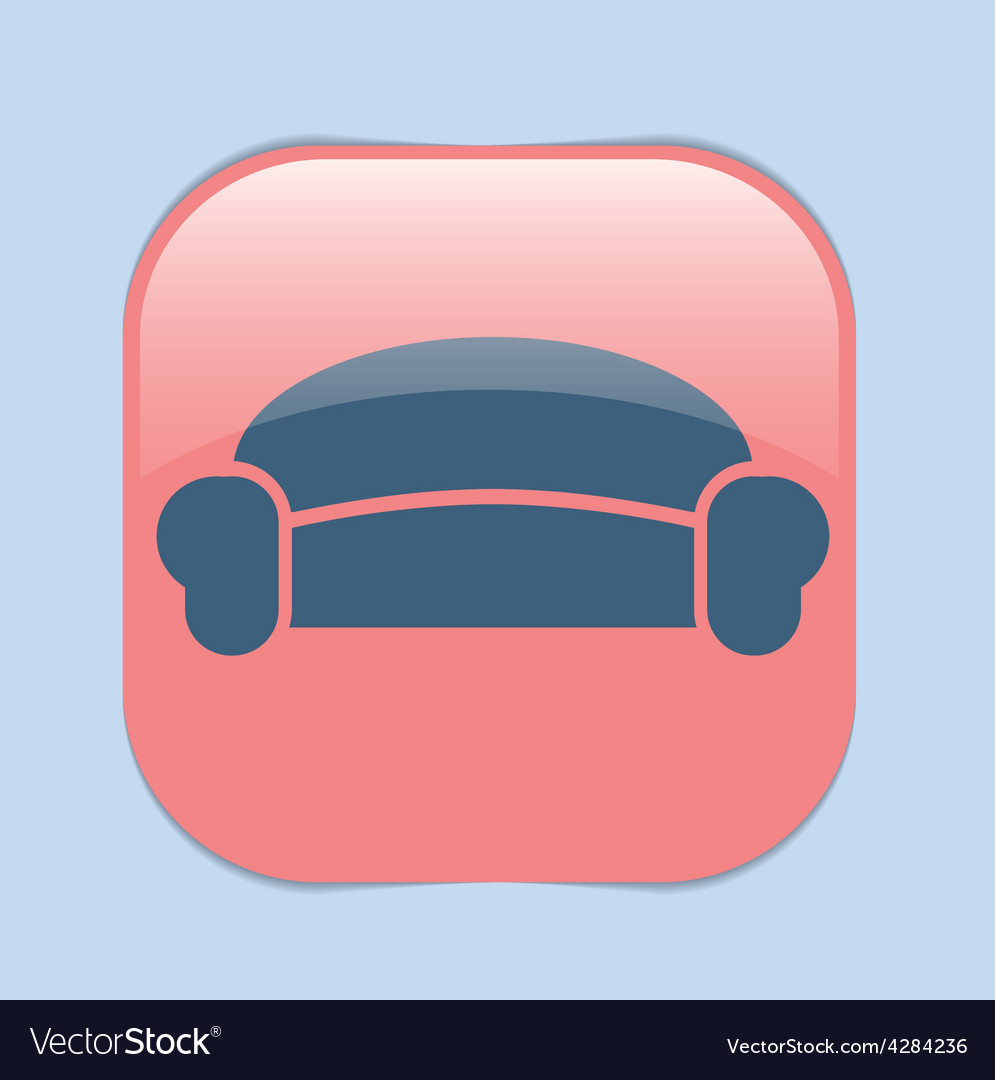 Sofa icon symbol furniture icon home interior vector | Price: 1 Credit (USD $1)