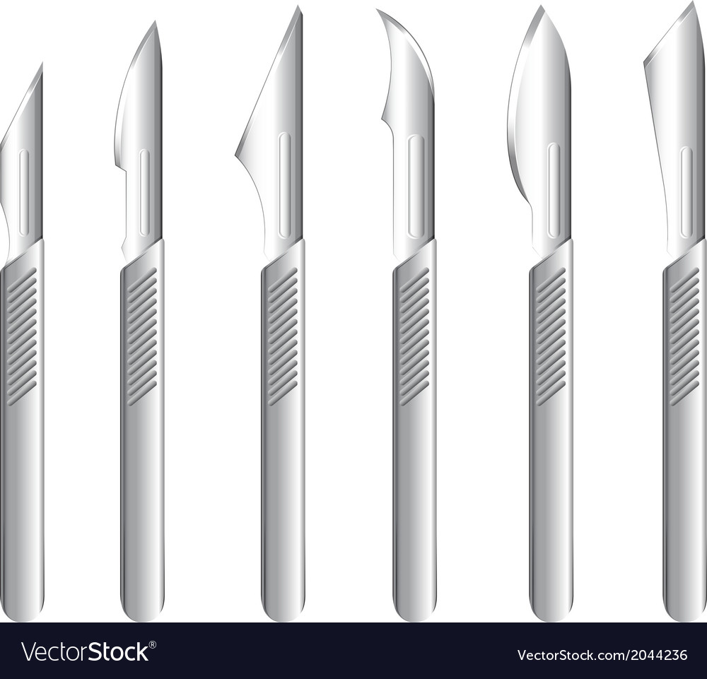 Stainless scalpels vector | Price: 1 Credit (USD $1)