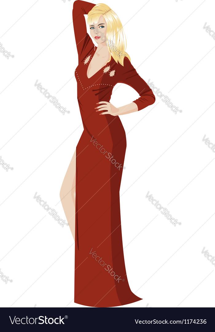Stylish girl vector | Price: 5 Credit (USD $5)