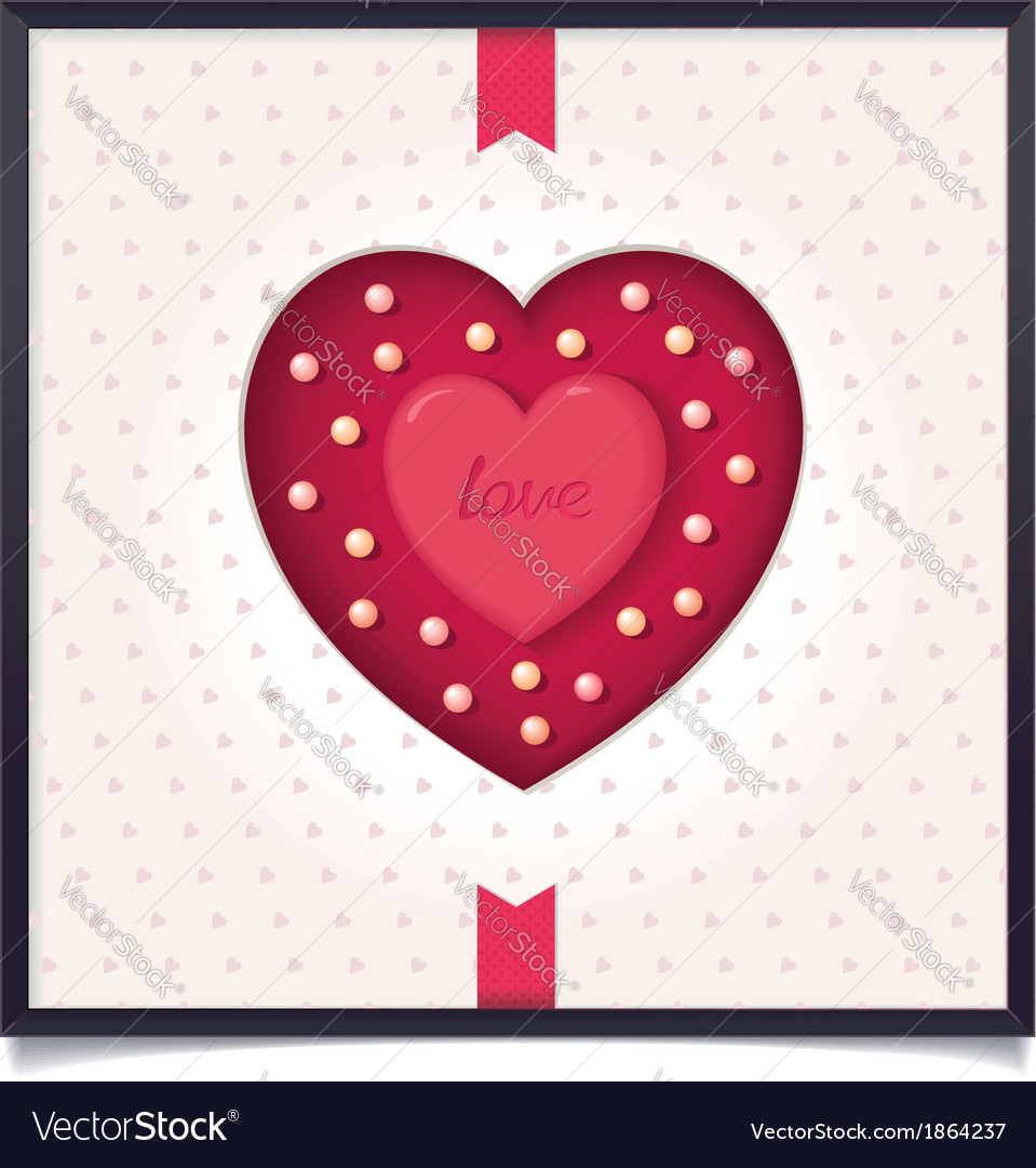 Abstract heart in picture frame vector | Price: 1 Credit (USD $1)