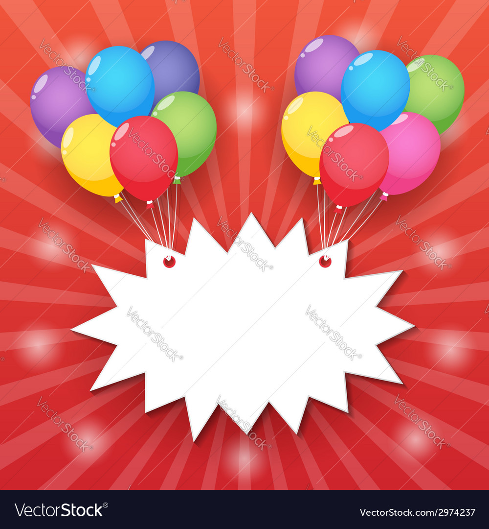 Balloon starburst background vector | Price: 1 Credit (USD $1)