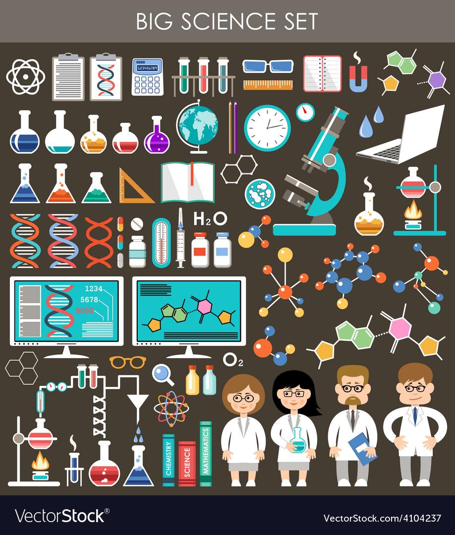 Big science set infographics vector | Price: 1 Credit (USD $1)