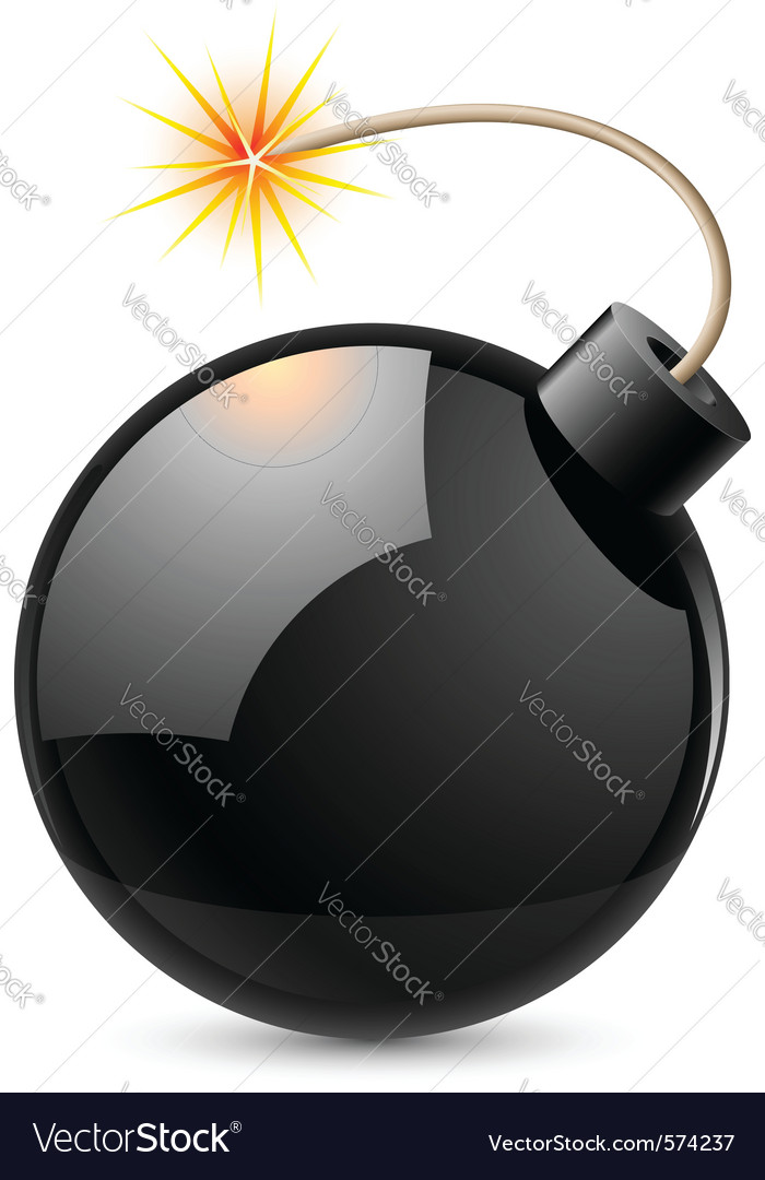 Cartoon bomb vector | Price: 1 Credit (USD $1)