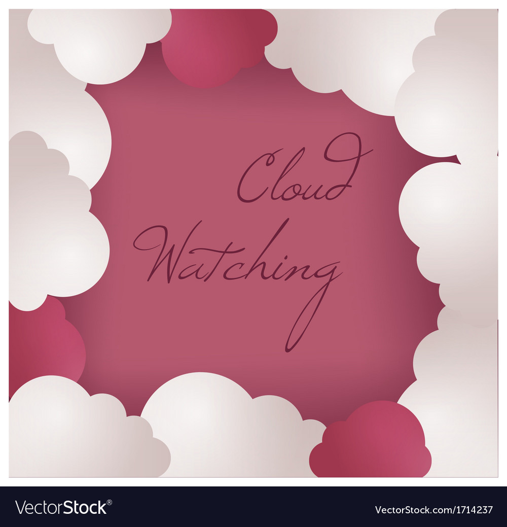 Cloud frame background vector | Price: 1 Credit (USD $1)