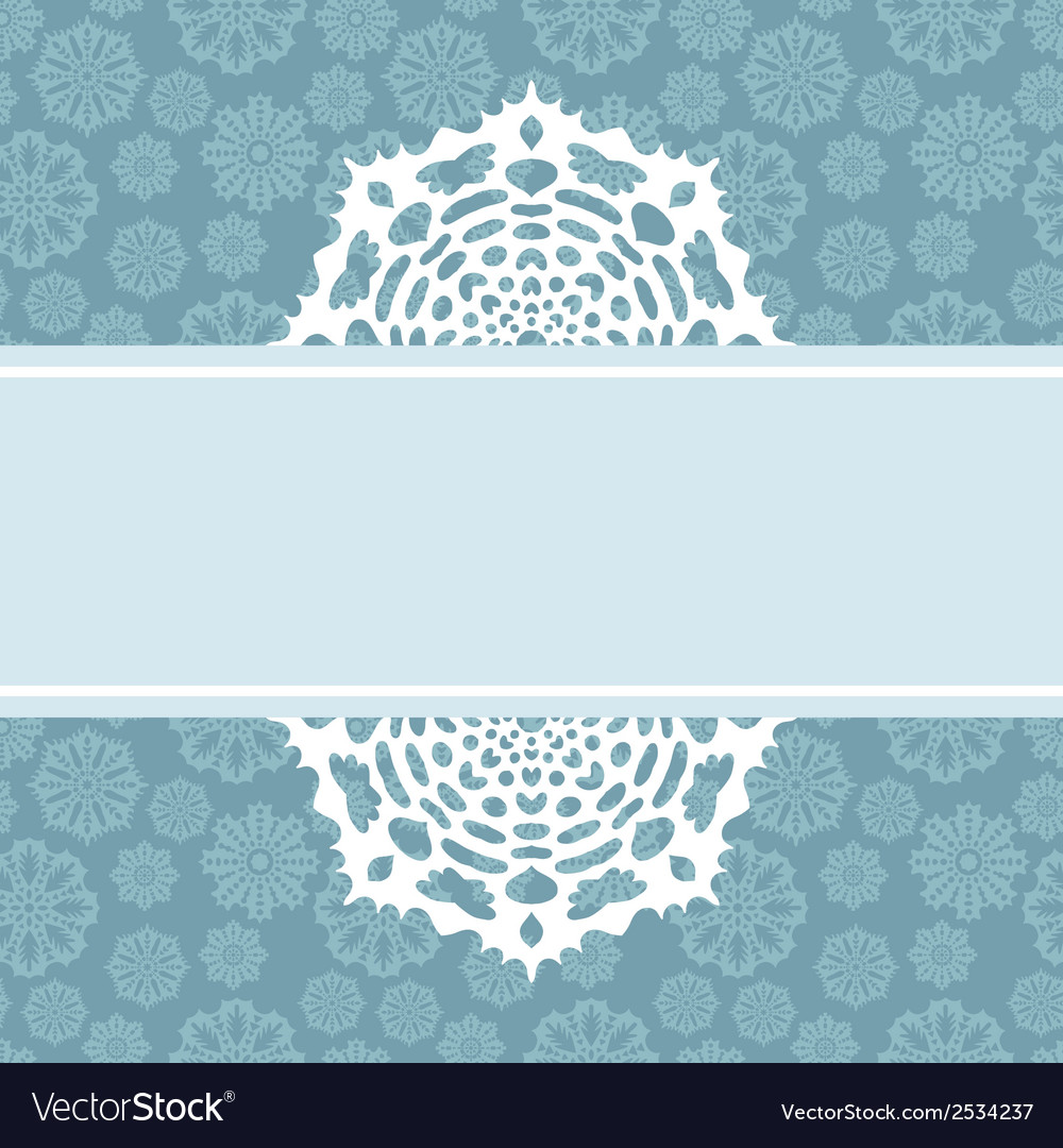 Decorative christmas background with snowflakes vector | Price: 1 Credit (USD $1)