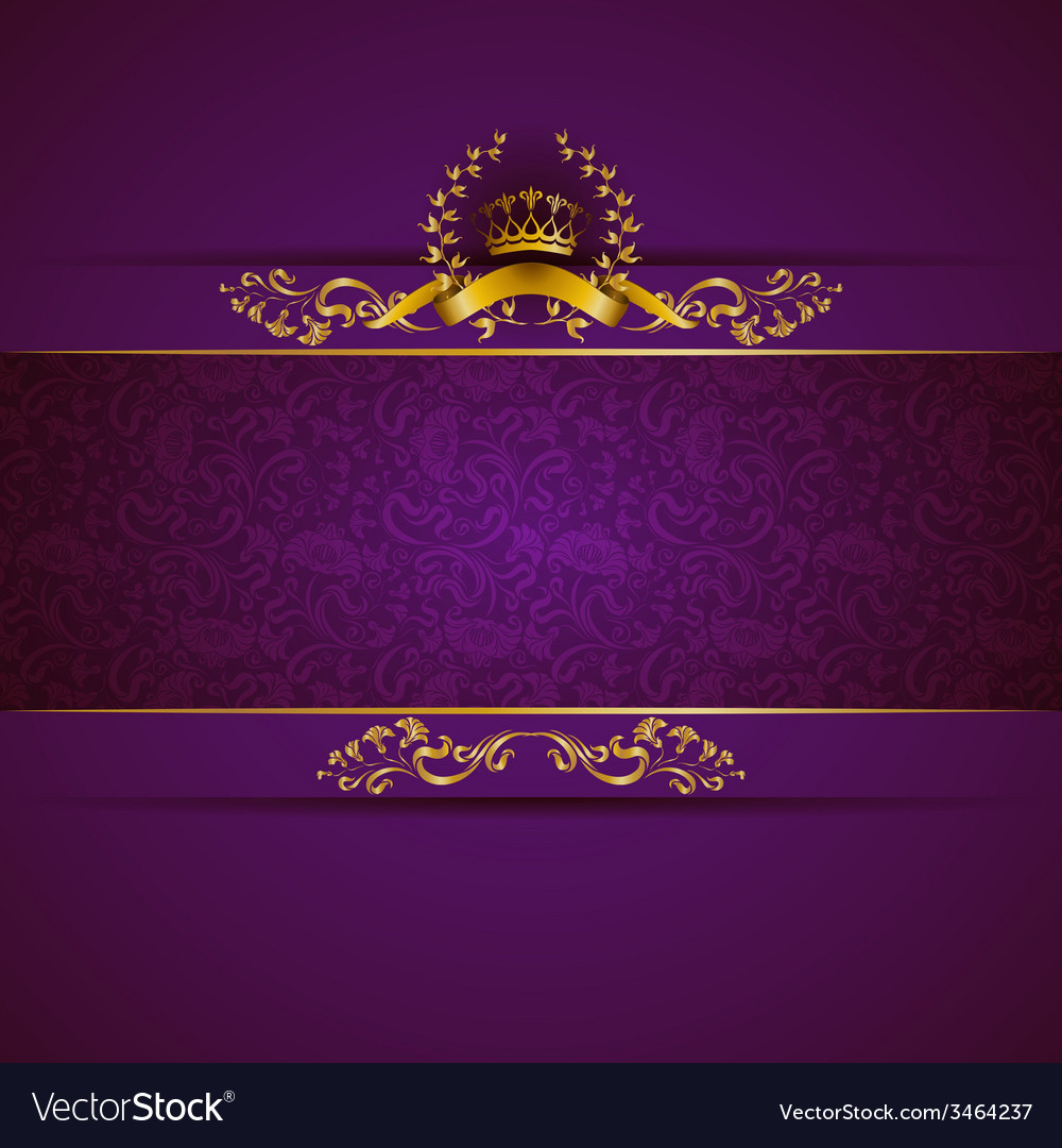 Elegant golden frame banner vector | Price: 1 Credit (USD $1)