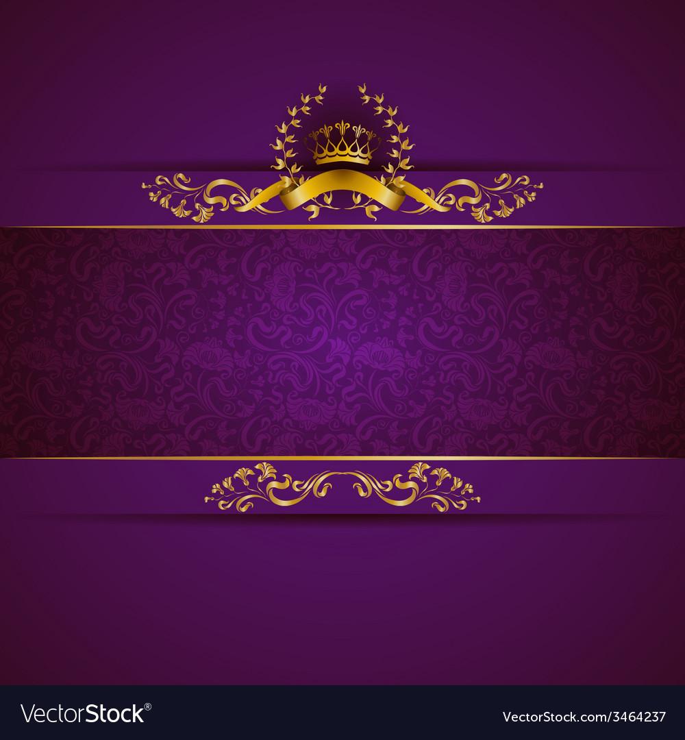 Elegant golden frame banner vector | Price: 1 Credit (USD $1)
