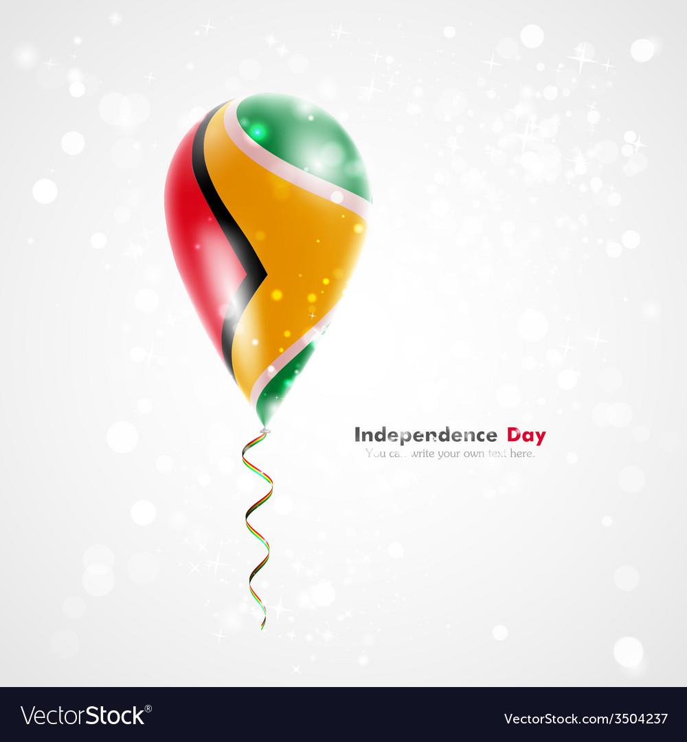 Flag of guyana on balloon vector | Price: 1 Credit (USD $1)
