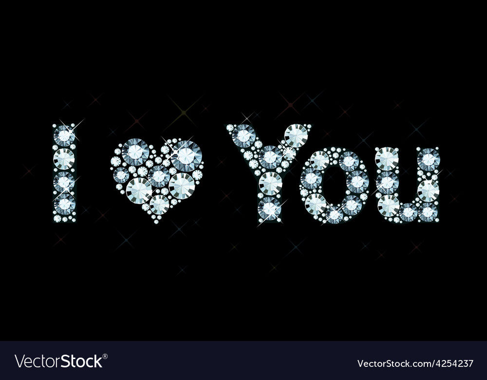 I love you - diamond letters vector | Price: 1 Credit (USD $1)