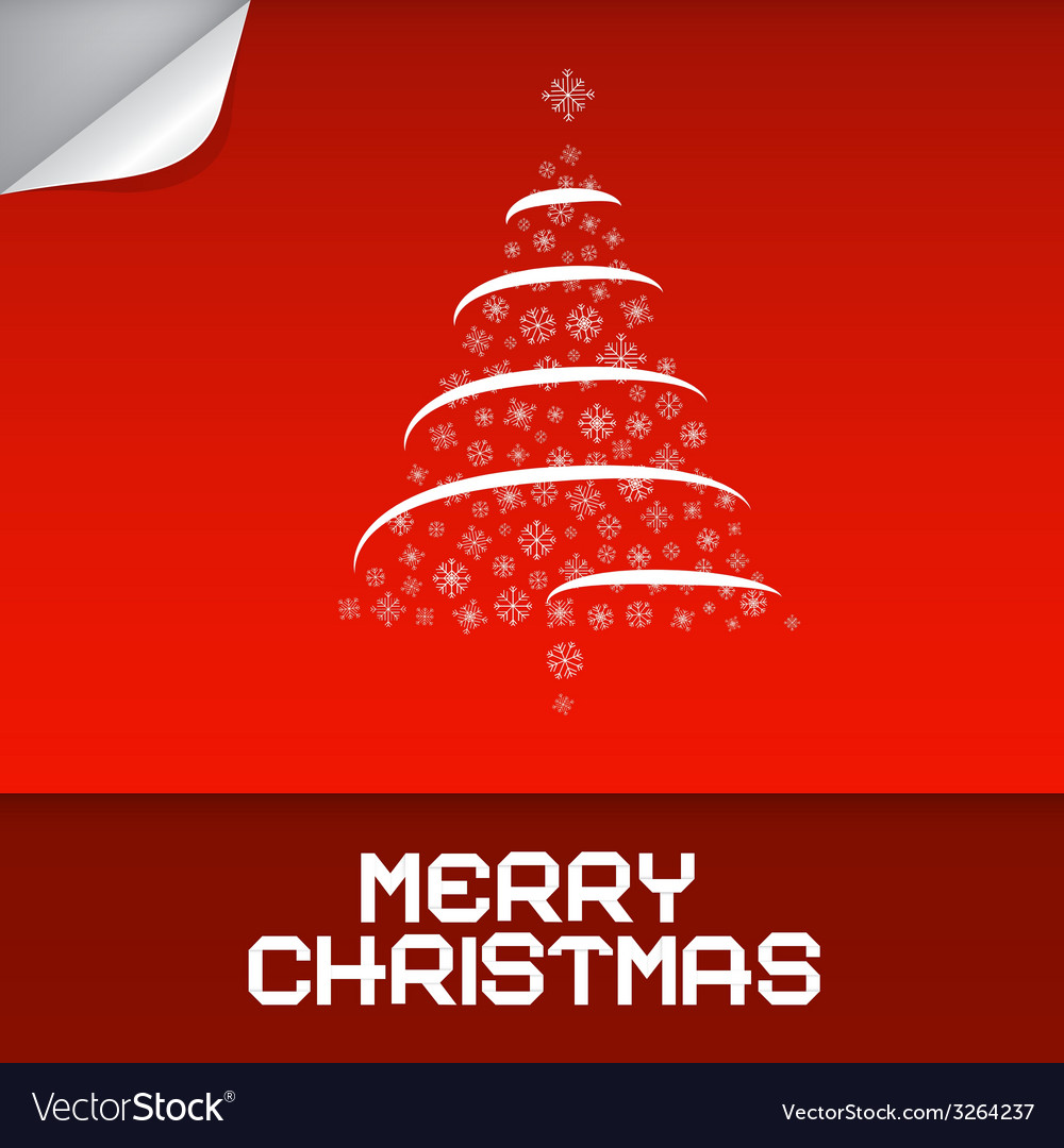 Merry christmas red vector | Price: 1 Credit (USD $1)