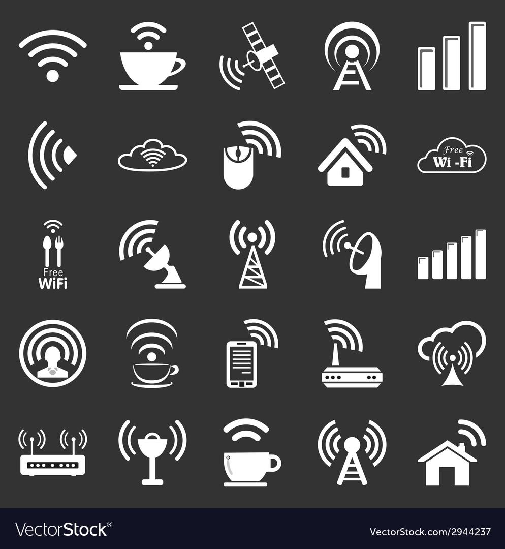 Set of twenty five wifi icons vector | Price: 1 Credit (USD $1)