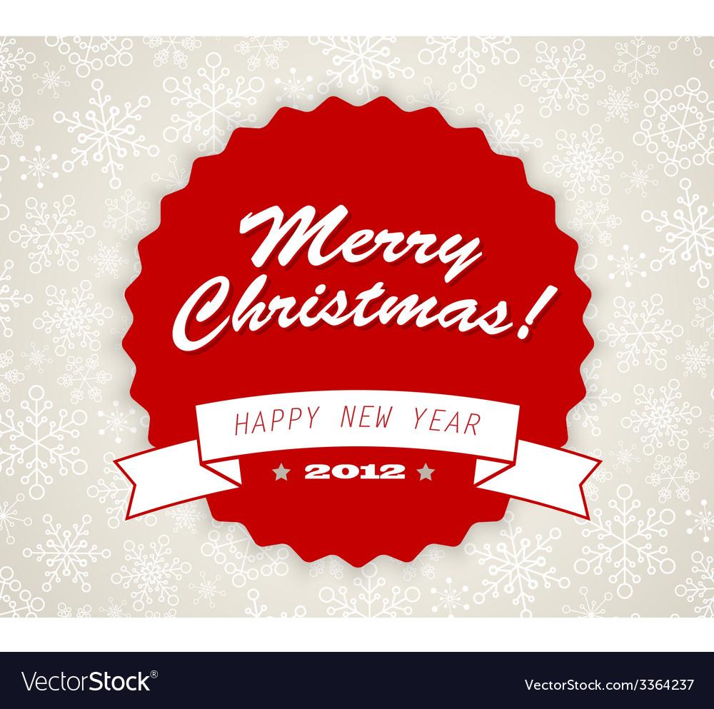 Simple vintage retro christmas card vector | Price: 1 Credit (USD $1)