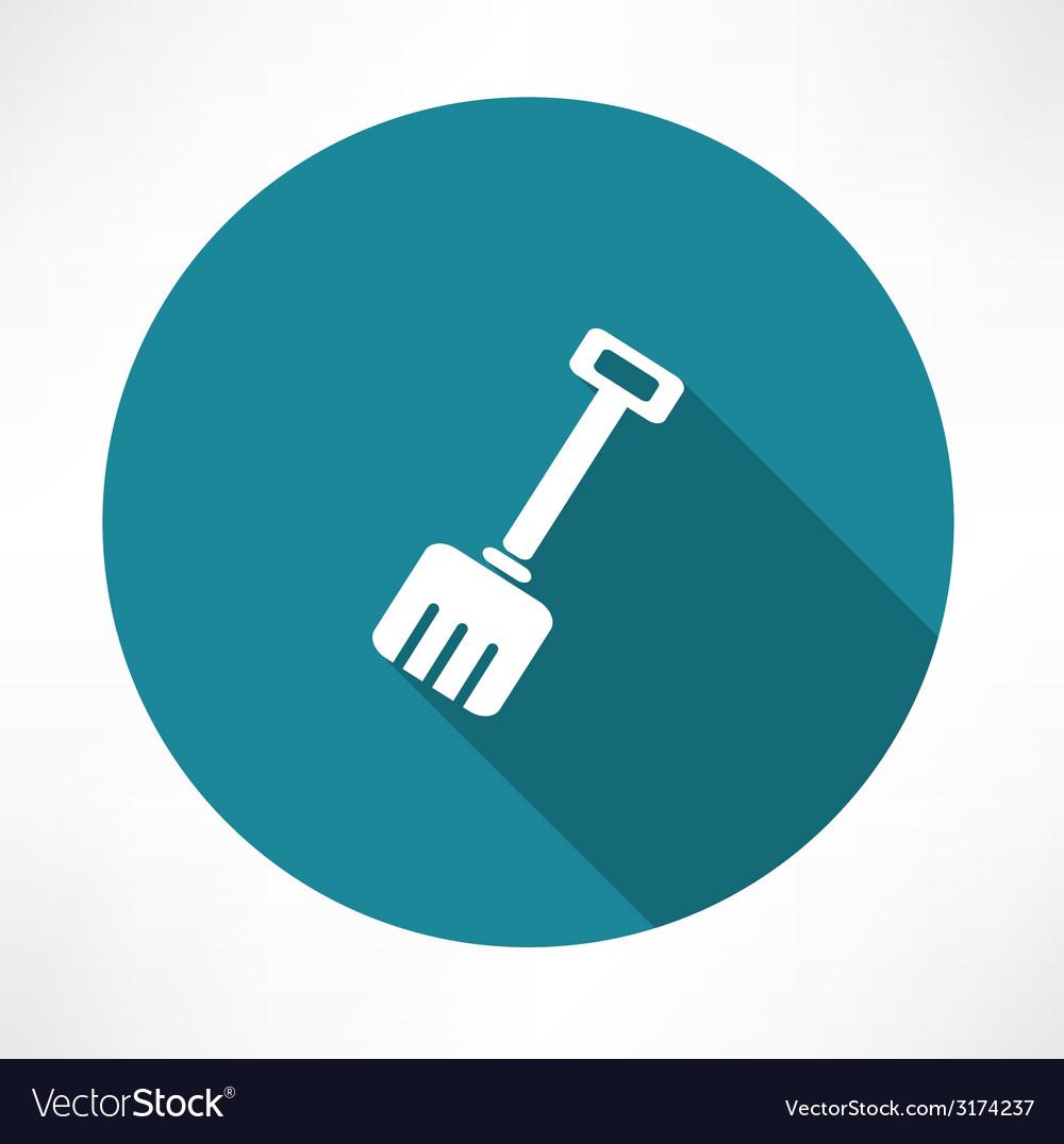 Snow shovel icon vector | Price: 1 Credit (USD $1)