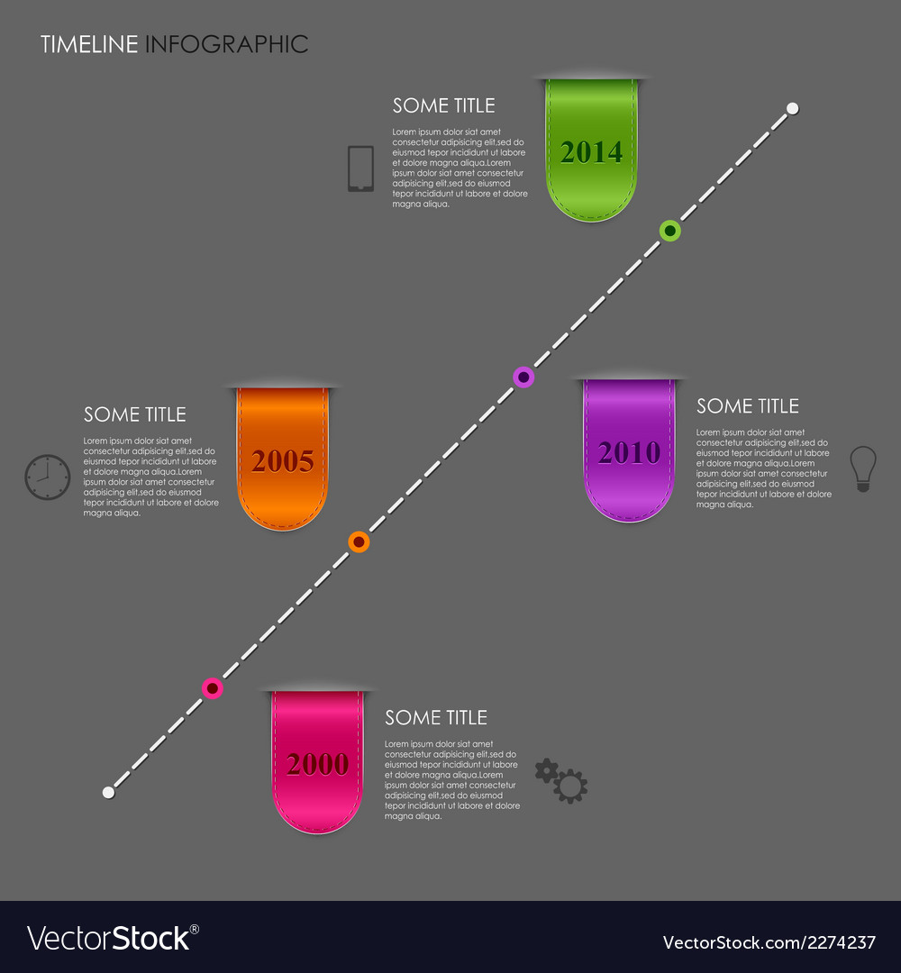 Time line info graphic ribbon template vector | Price: 1 Credit (USD $1)