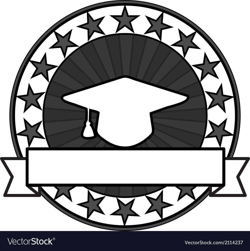 Vintage graduation stamps vector | Price: 1 Credit (USD $1)