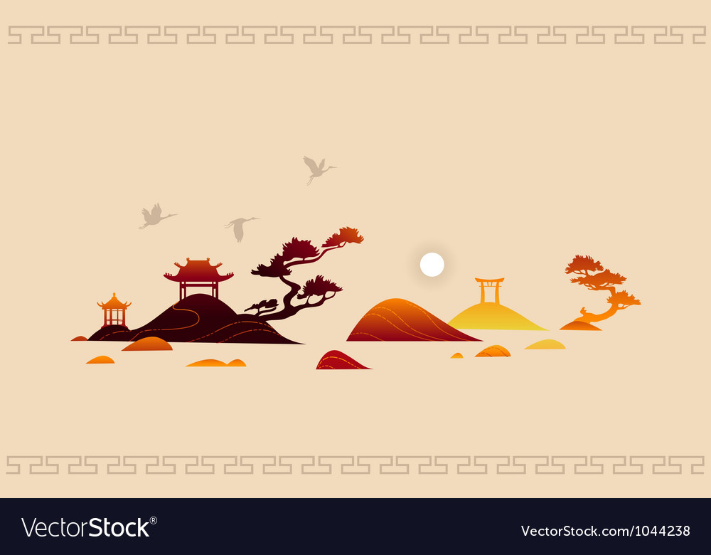 Abstract asian background vector | Price: 1 Credit (USD $1)