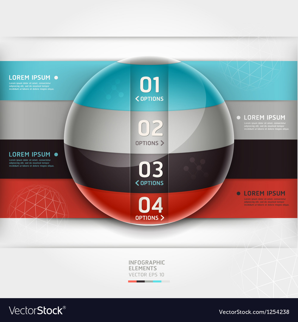 Abstract infographics element circle template vector | Price: 3 Credit (USD $3)