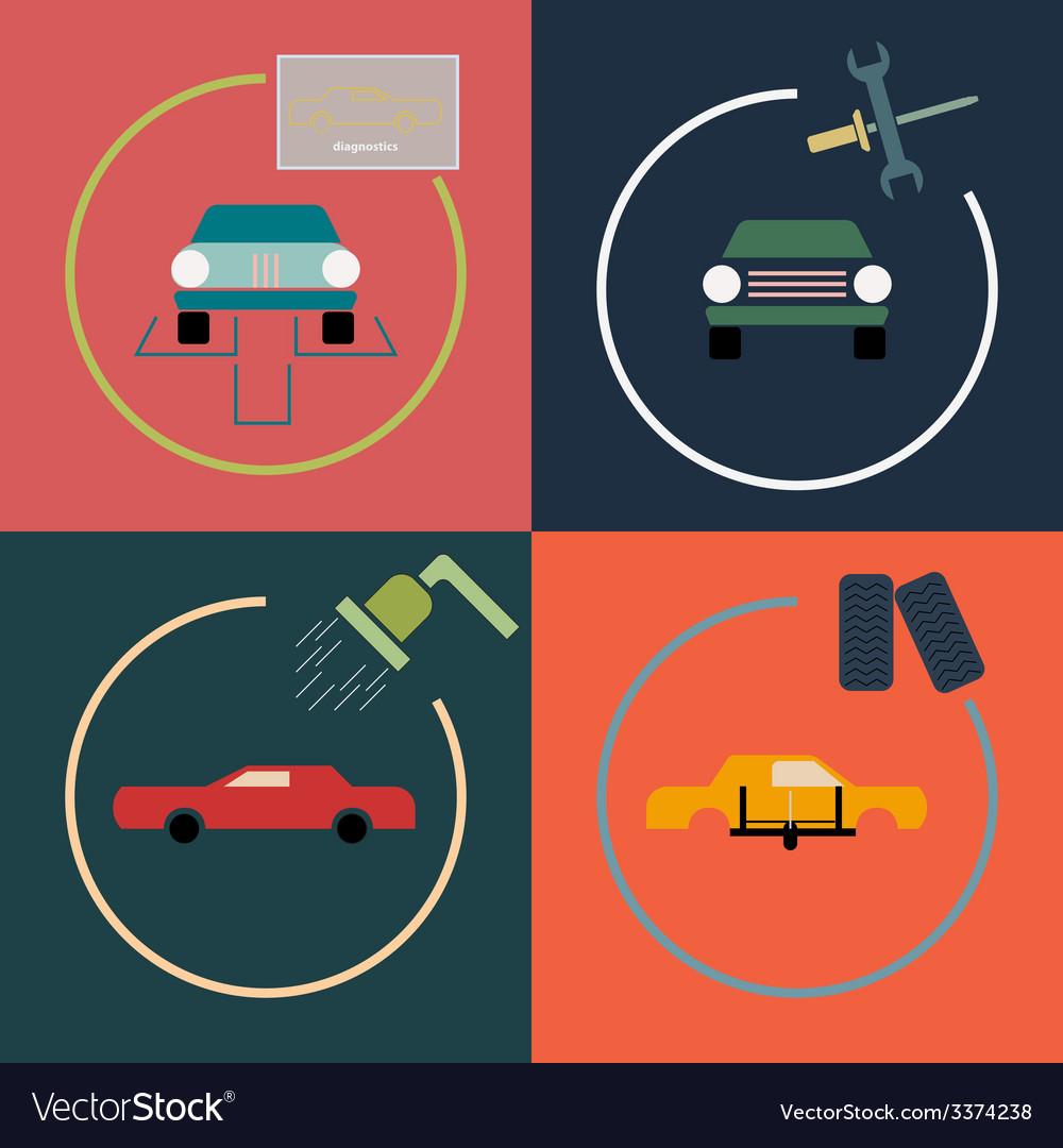 Car repair vector | Price: 1 Credit (USD $1)
