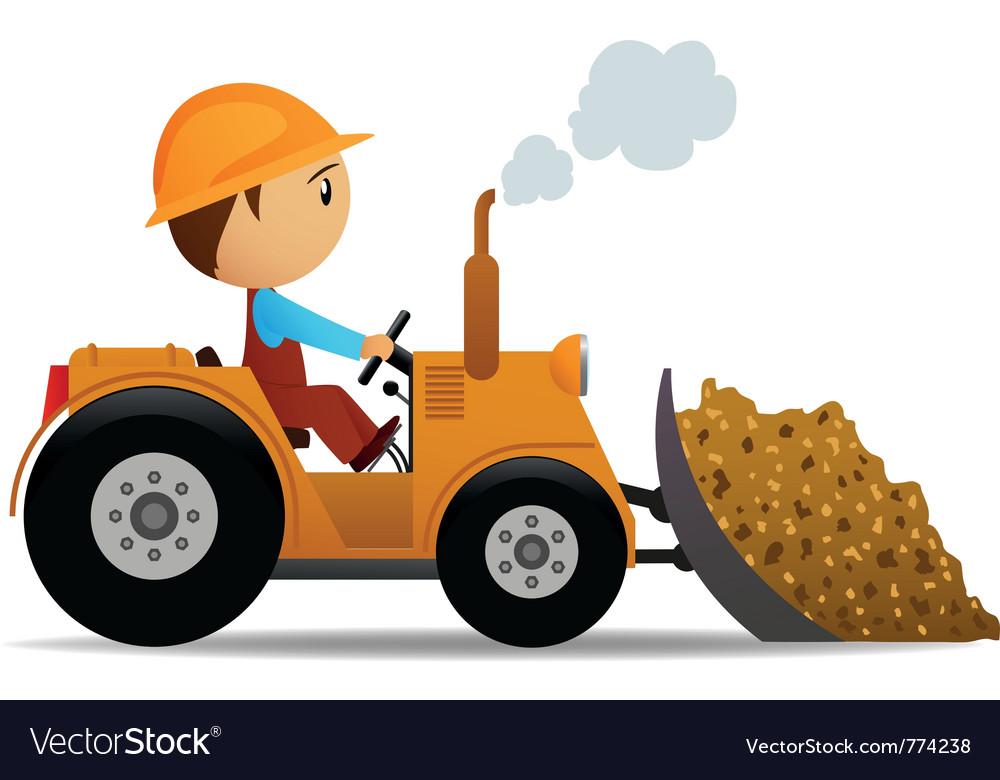 Cartoon bulldozer vector | Price: 3 Credit (USD $3)