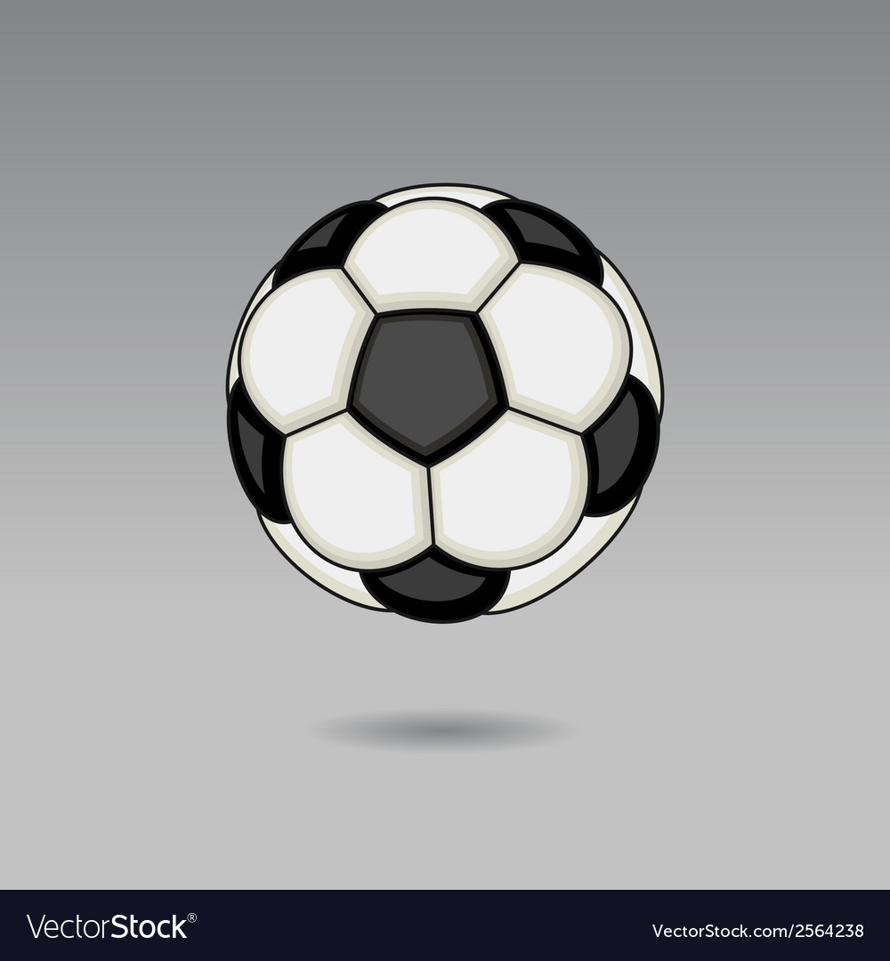Football ball on light background vector | Price: 1 Credit (USD $1)