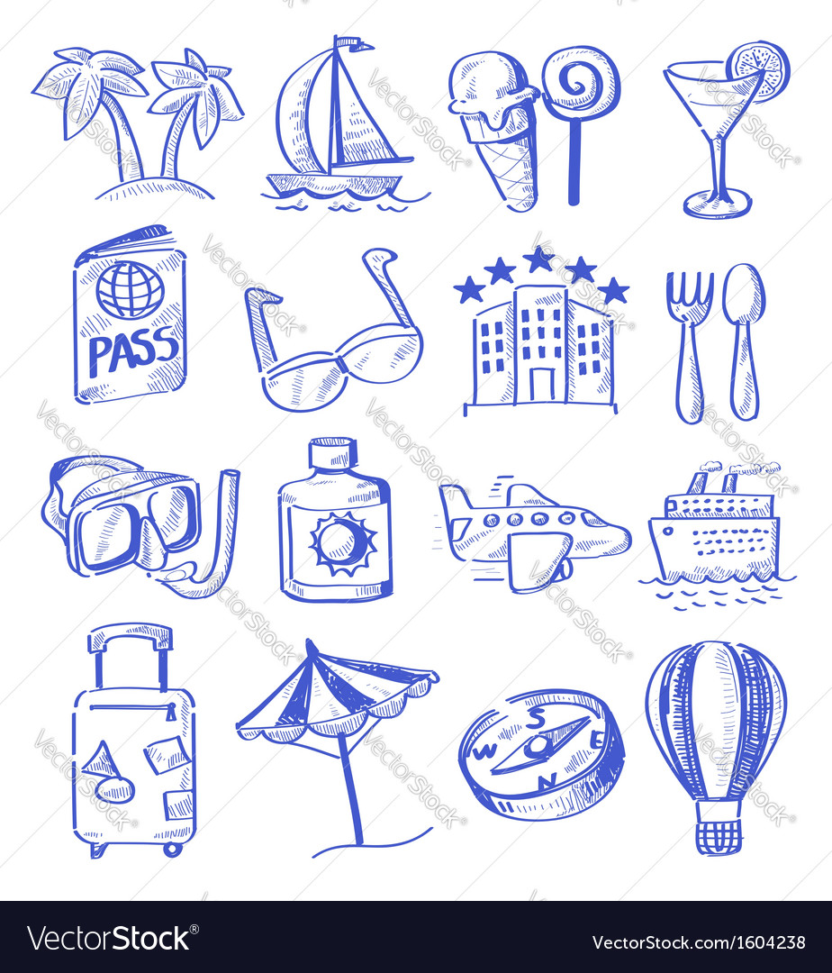 Hand draw travel vector | Price: 1 Credit (USD $1)