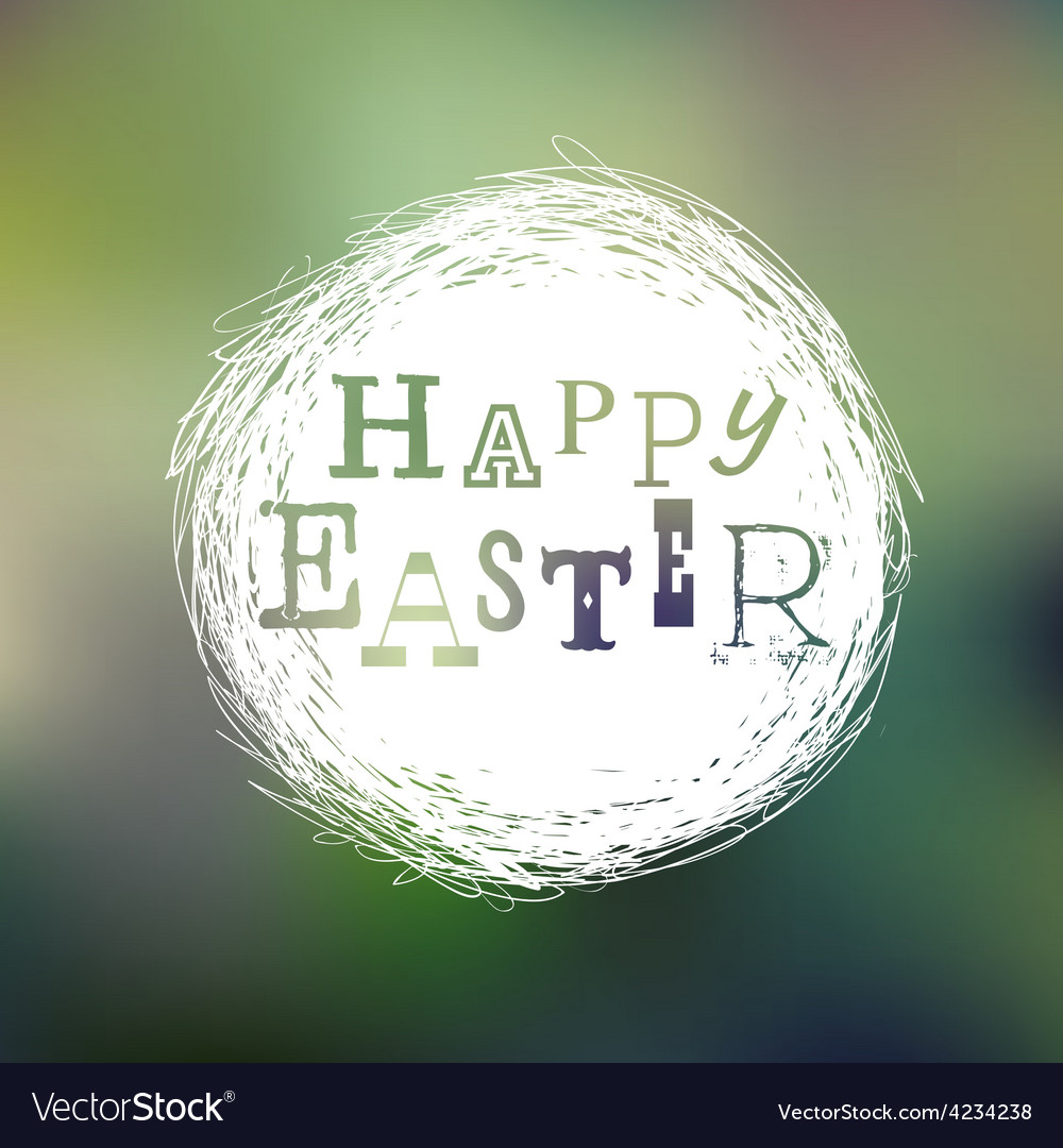 Happy easter mesh card vector | Price: 1 Credit (USD $1)