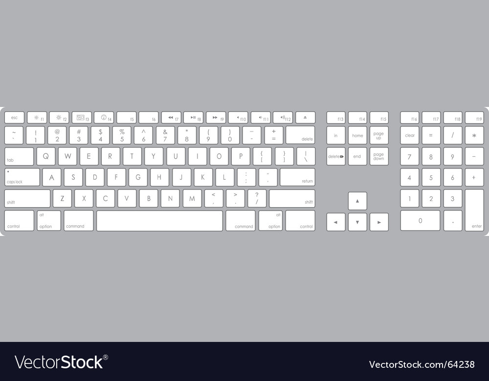 Keyboard vector | Price: 1 Credit (USD $1)