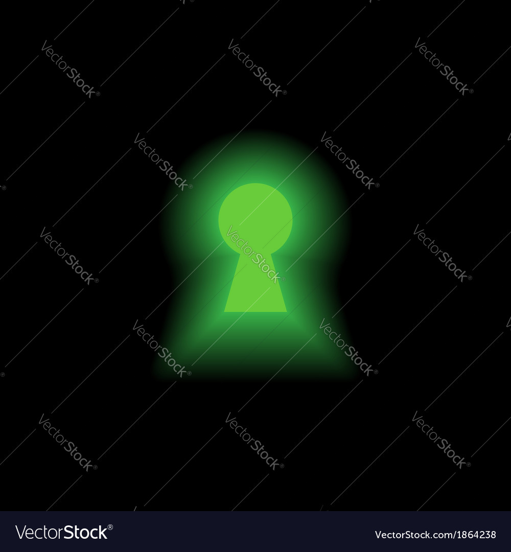 Keyhole with light vector | Price: 1 Credit (USD $1)