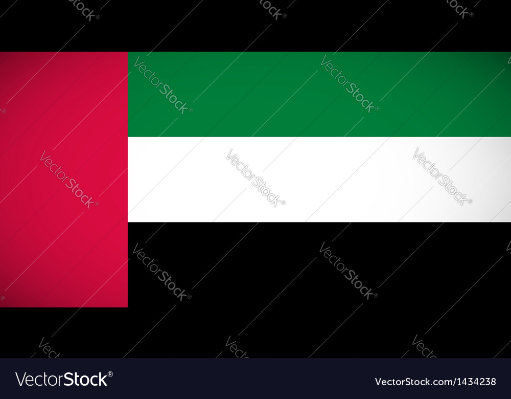 National flag of the united arab emirates vector | Price: 1 Credit (USD $1)