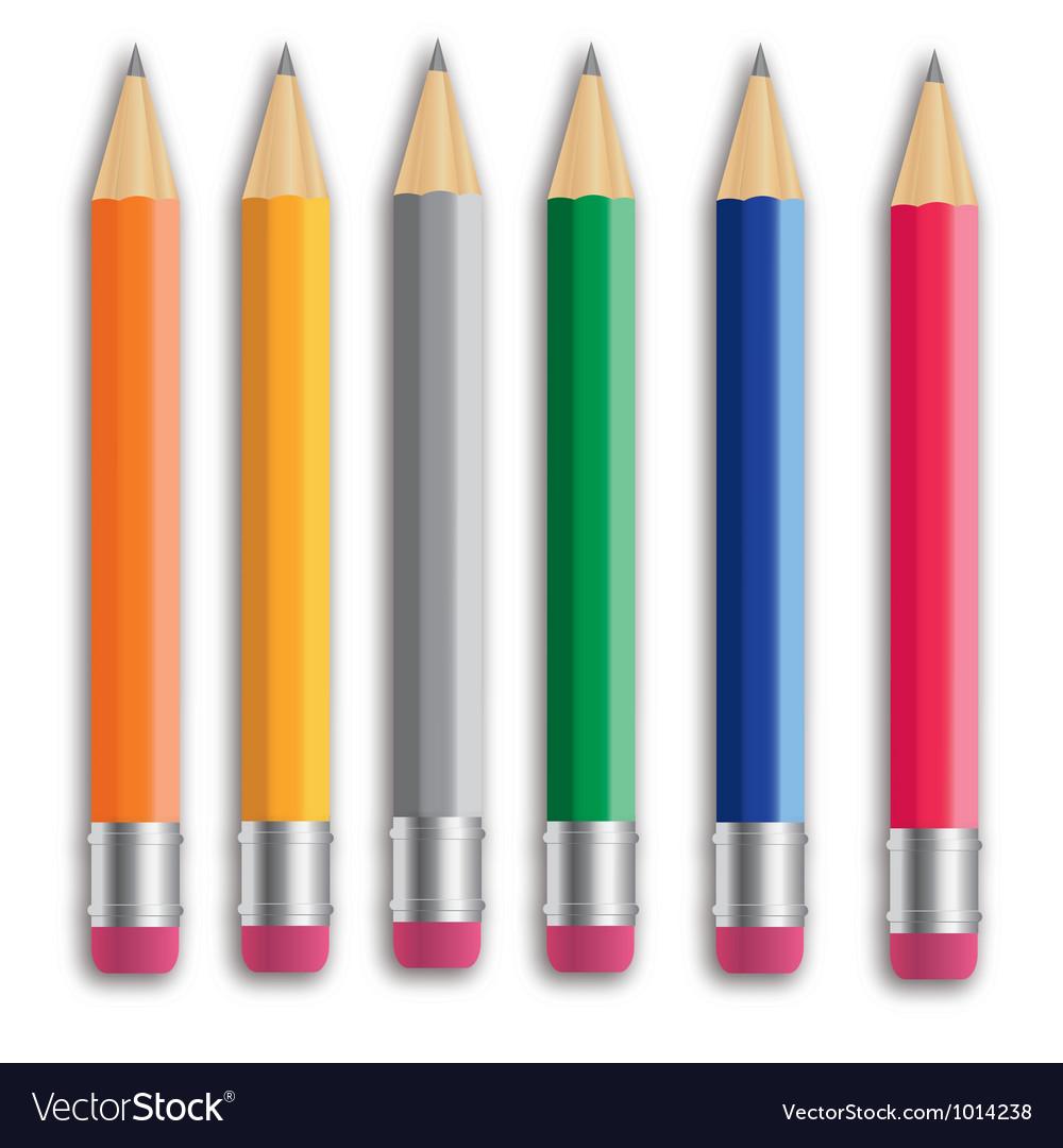 Pencil set eps 10 vector | Price: 1 Credit (USD $1)