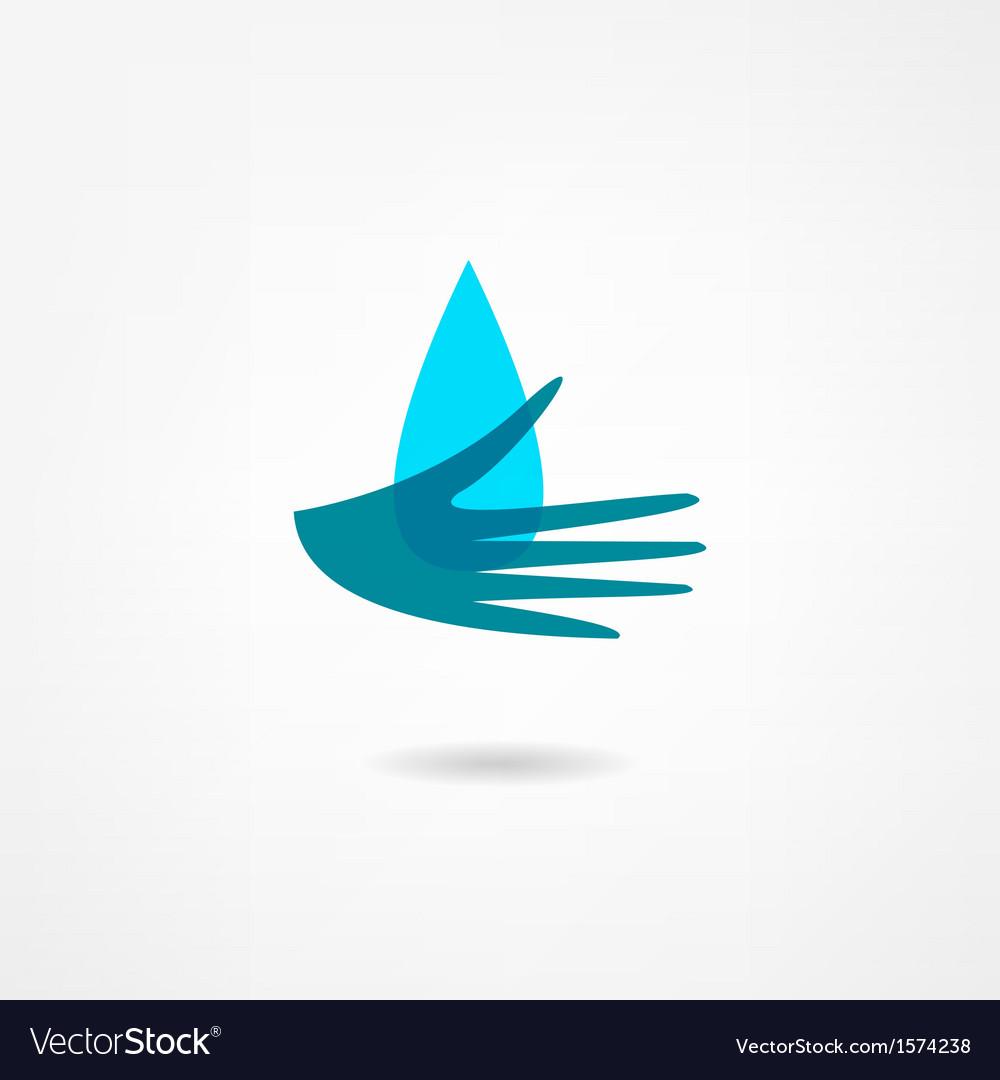 Rain icon vector | Price: 1 Credit (USD $1)