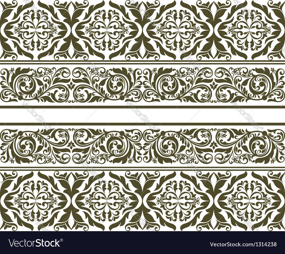 Retro ornament in floral style vector | Price: 1 Credit (USD $1)