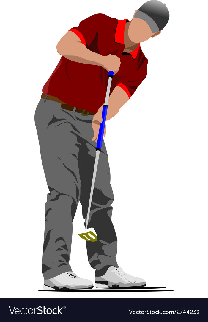 Al 0612 golfer 01 vector | Price: 1 Credit (USD $1)