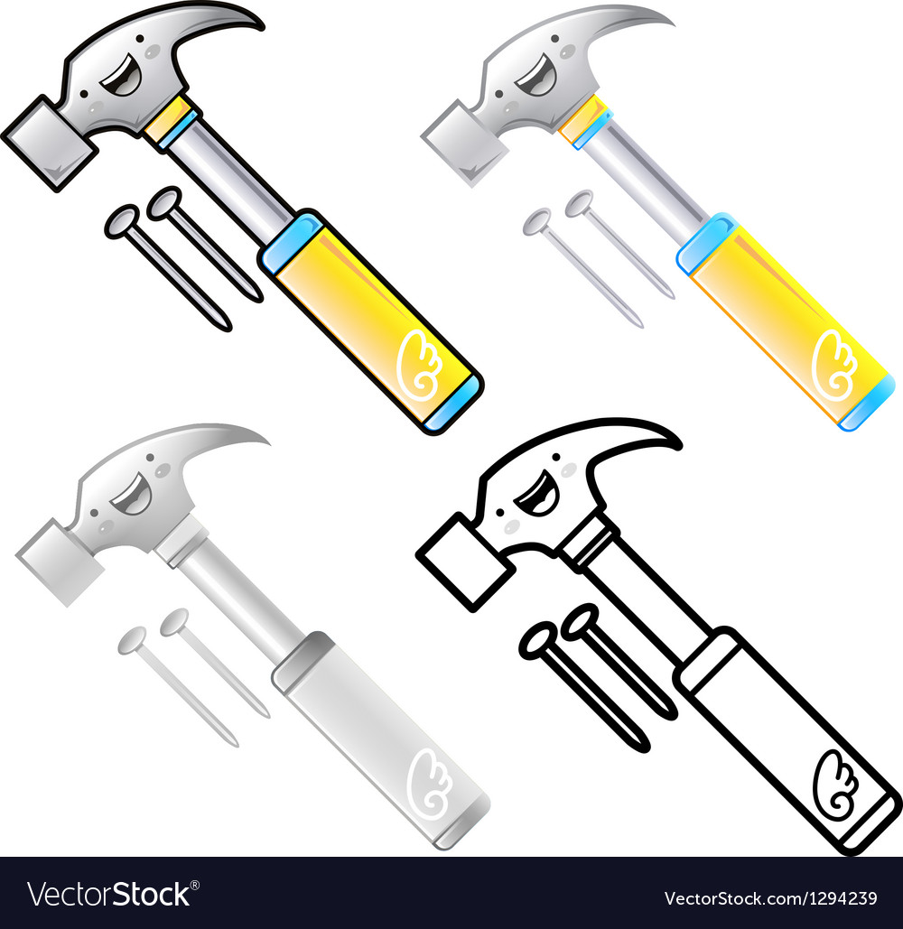 Different styles of hammer sets vector | Price: 1 Credit (USD $1)