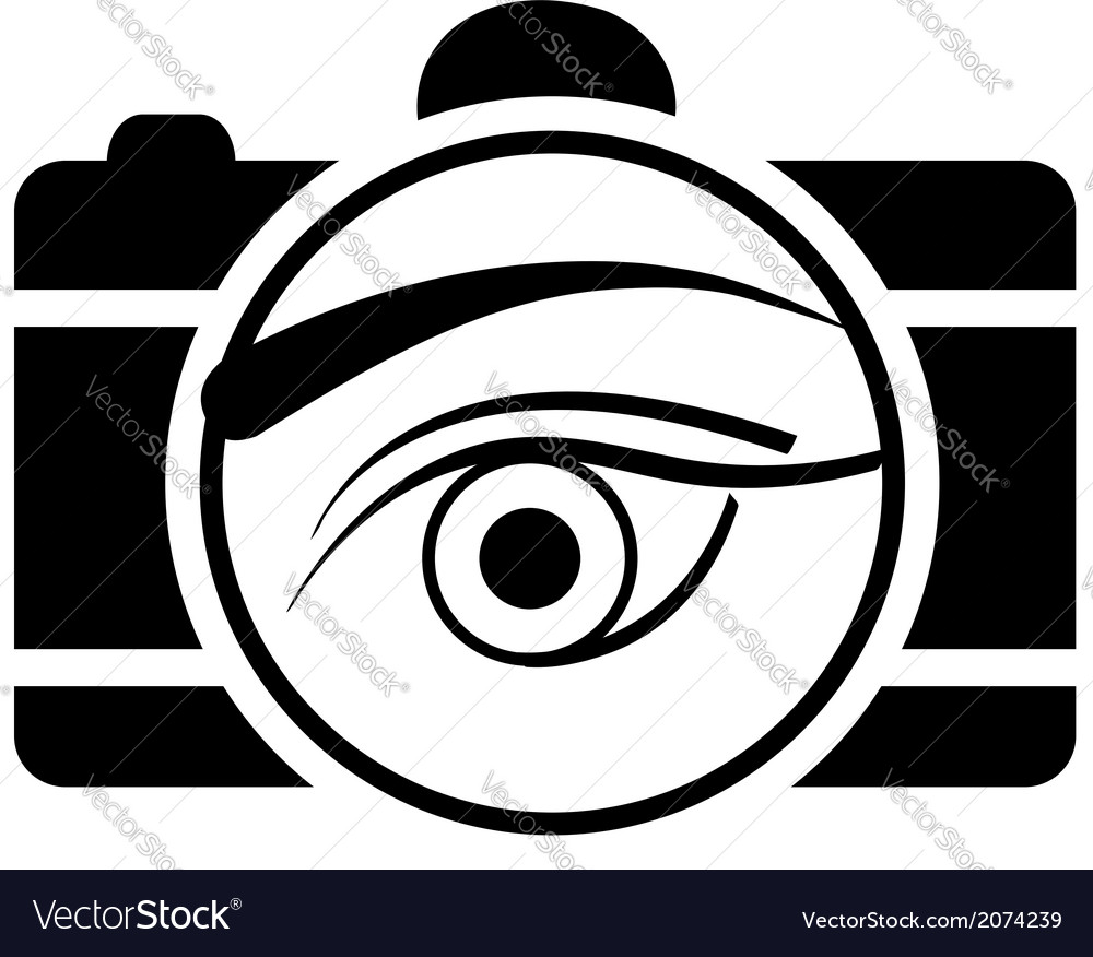 Digital camera- photography logo with an eye vector | Price: 1 Credit (USD $1)