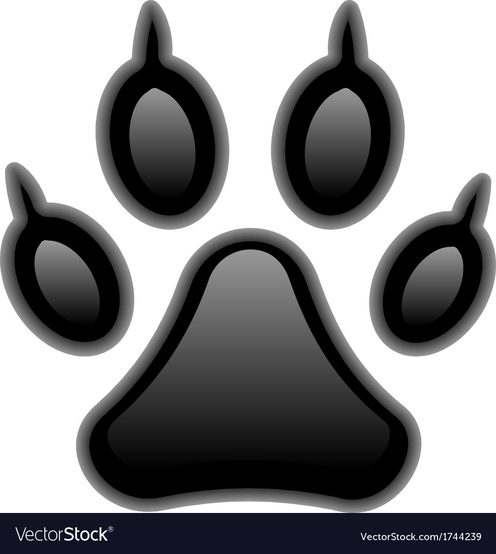Paw print vector | Price: 1 Credit (USD $1)