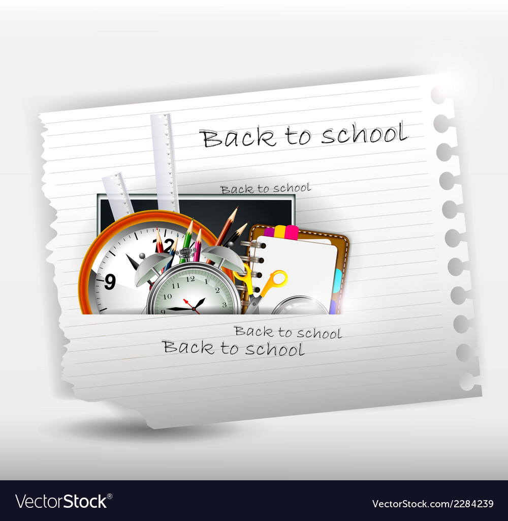 School supplies for you design vector | Price: 1 Credit (USD $1)