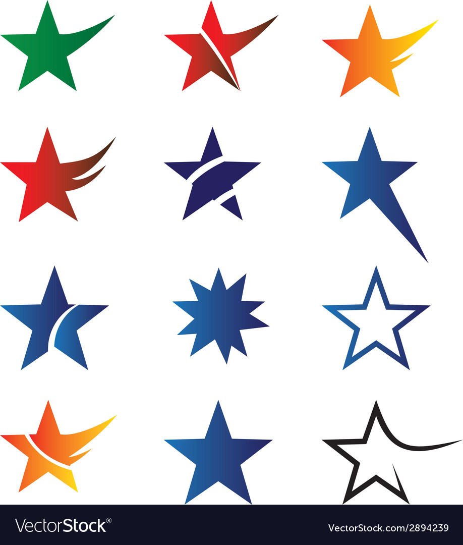Stars set vector | Price: 1 Credit (USD $1)