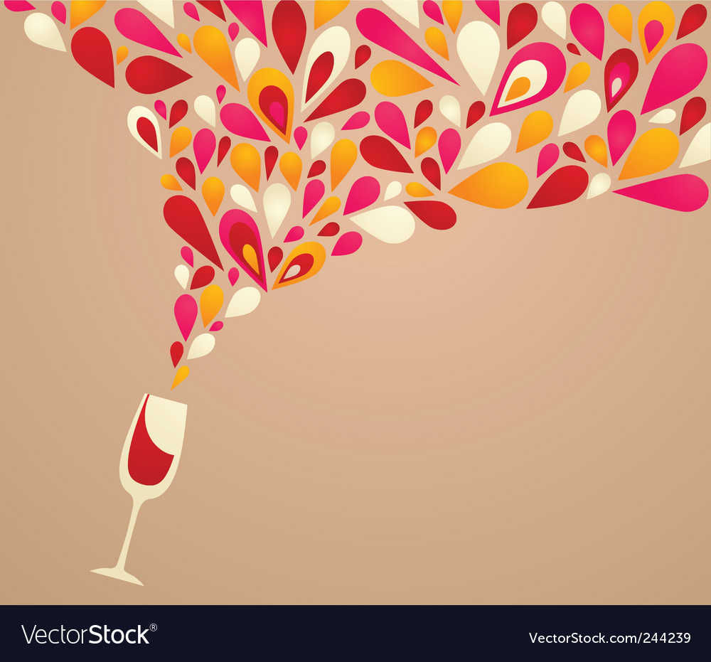 Wine glass spilling vector | Price: 1 Credit (USD $1)
