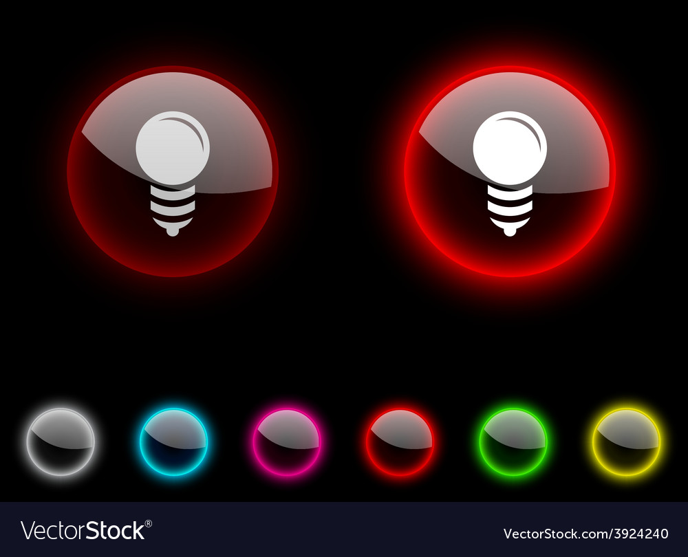 Bulb button vector | Price: 1 Credit (USD $1)