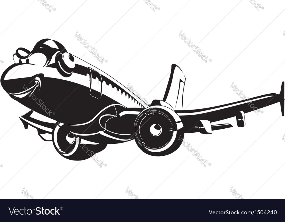 Cartoon airliner vector | Price: 3 Credit (USD $3)