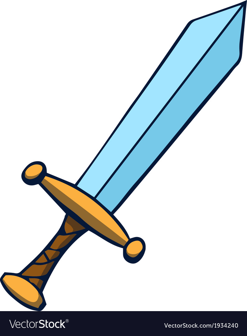 Cartoon sword vector | Price: 1 Credit (USD $1)